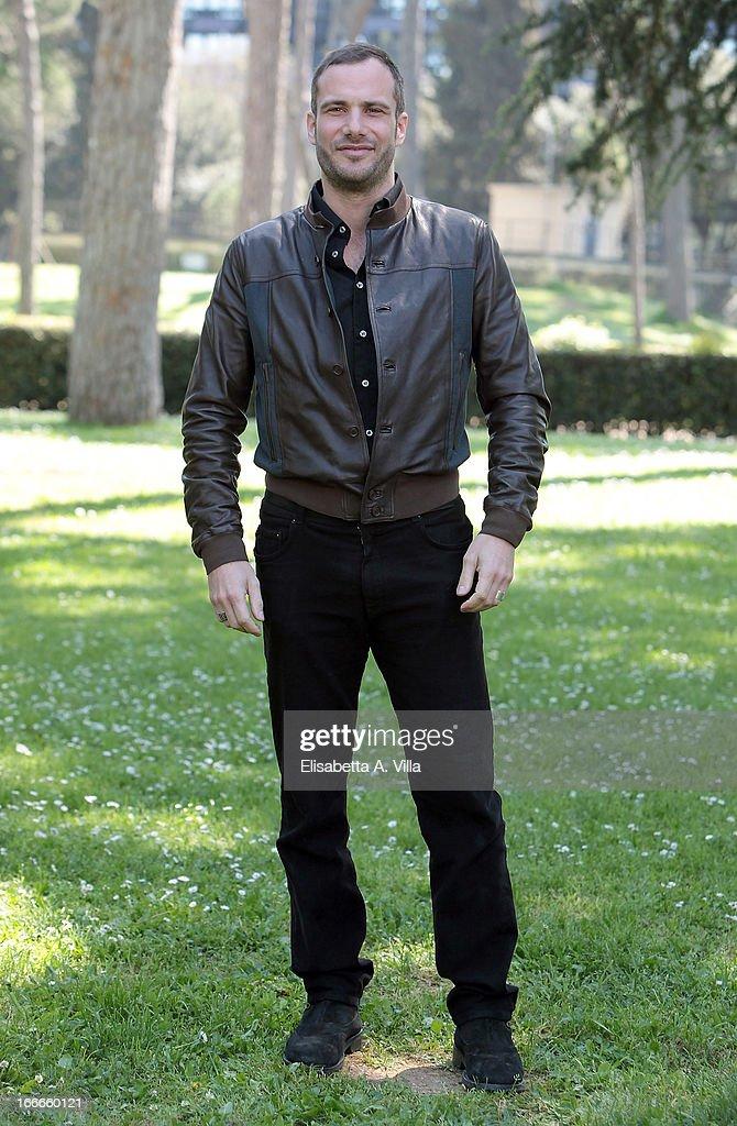 Actor Matteo Taranto attends 'Razza Bastarda' photocall at Villa Borghese on April 15, 2013 in Rome, Italy.