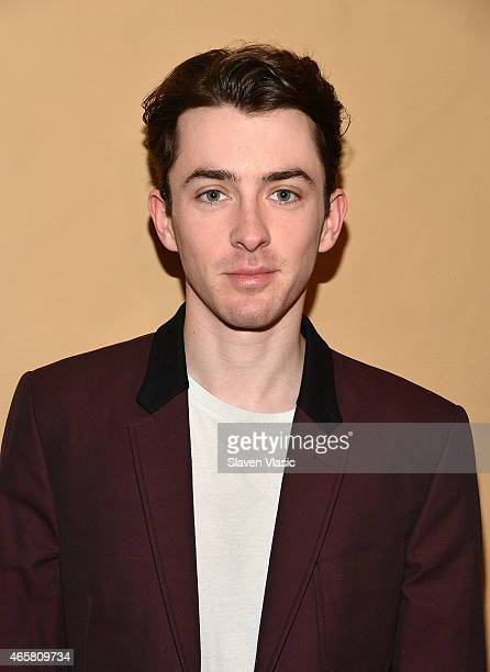 Actor Matthew Beard attends the photo call for the Broadway production of 'Skylight' at the Golden Theatre on March 10 2015 in New York City