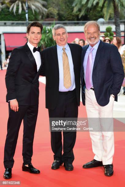 Actor Matthew Bomer executive producer Christopher Keyser and Actor Kelsey Grammer from 'The Last Tycoon' attend the 57th Monte Carlo TV Festival Day...