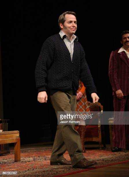 Actor Matthew Broderick attends the opening night of 'The Philanthropist' on Broadway at the Roundabout Theatre Company's American Airlines Theatre...