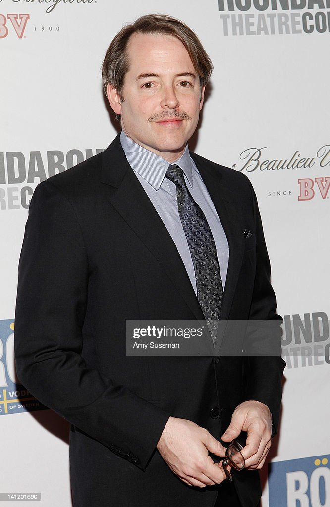 Actor <a gi-track='captionPersonalityLinkClicked' href=/galleries/search?phrase=Matthew+Broderick&family=editorial&specificpeople=201912 ng-click='$event.stopPropagation()'>Matthew Broderick</a> attends The Roundabout Theatre 2012 Spring Gala 'From Screen to Stage' dinner and auction at the Hammerstein Ballroom on March 12, 2012 in New York City.