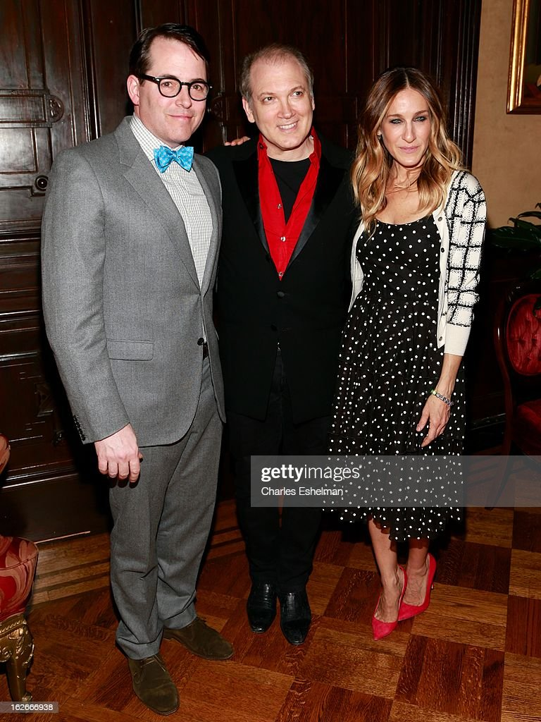 Actor <a gi-track='captionPersonalityLinkClicked' href=/galleries/search?phrase=Matthew+Broderick&family=editorial&specificpeople=201912 ng-click='$event.stopPropagation()'>Matthew Broderick</a>, honoree <a gi-track='captionPersonalityLinkClicked' href=/galleries/search?phrase=Charles+Busch&family=editorial&specificpeople=227410 ng-click='$event.stopPropagation()'>Charles Busch</a> and actress <a gi-track='captionPersonalityLinkClicked' href=/galleries/search?phrase=Sarah+Jessica+Parker&family=editorial&specificpeople=201693 ng-click='$event.stopPropagation()'>Sarah Jessica Parker</a> attend the 10th Annual Love 'N' Courage Benefit For TNC's Emerging Playwrights Program at The National Arts Club on February 25, 2013 in New York City.