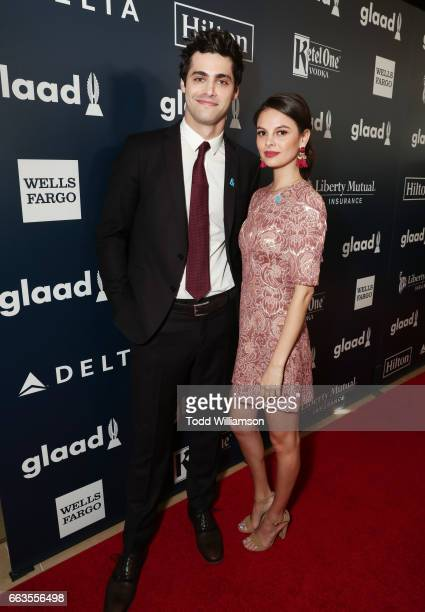 Actor Matthew Daddario and Esther Kim attend the 28th Annual GLAAD Media Awards in LA at The Beverly Hilton Hotel on April 1 2017 in Beverly Hills...