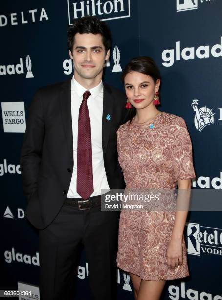 Actor Matthew Daddario and Esther Kim attend the 28th Annual GLAAD Media Awards at The Beverly Hilton Hotel on April 1 2017 in Beverly Hills...