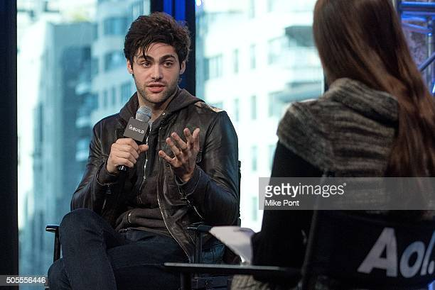 Actor Matthew Daddario attends the AOL Build Speaker Series to discuss his new television series 'Shadowhunters' at AOL Studios In New York on...