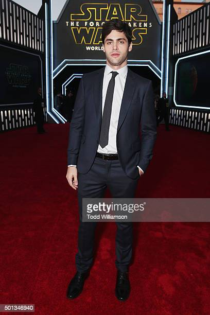 Actor Matthew Daddario attends the premiere of Walt Disney Pictures and Lucasfilm's 'Star Wars The Force Awakens' at the Dolby Theatre on December...