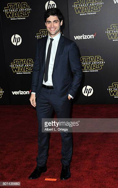 Actor Matthew Daddorio arrives for the Premiere Of Walt Disney Pictures And Lucasfilm's 'Star Wars The Force Awakens' held on December 14 2015 in...