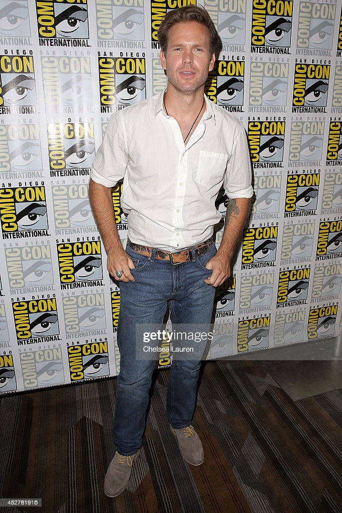 Actor Matthew Davis attends 'The Vampire Diaries' press room at Comic-Con International on July 26, 2014 in San Diego, California.
