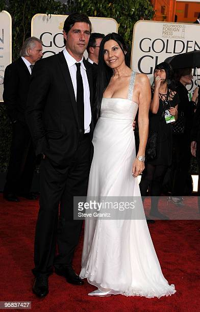 Actor Matthew Fox and guest arrive at the 67th Annual Golden Globe Awards at The Beverly Hilton Hotel on January 17 2010 in Beverly Hills California