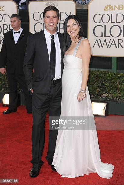 Actor Matthew Fox and wife Margherita Ronchi arrives at the 67th Annual Golden Globe Awards held at The Beverly Hilton Hotel on January 17 2010 in...