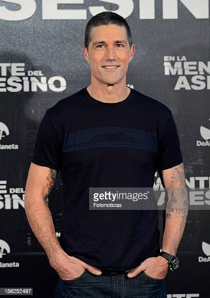Actor Matthew Fox attends a photocall for 'Alex Cross' at Hotel ME on November 12 2012 in Madrid Spain