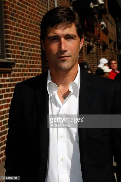 Actor Matthew Fox visits 'Late Show with David Letterman' at the Ed Sullivan Theater on April 27 2009 in New York City