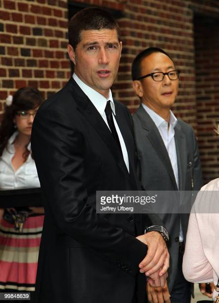 Actor Matthew Fox visits 'Late Show With David Letterman' at the Ed Sullivan Theater on May 17 2010 in New York City
