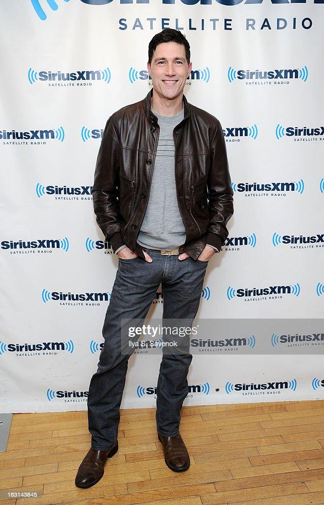Actor Matthew Fox visits the SiriusXM Studios on March 5, 2013 in New York City.