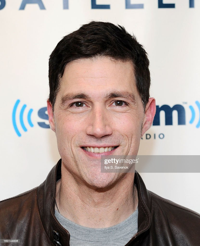 Actor Matthew Fox visits the SiriusXM Studios on March 5, 2013 in New York City.