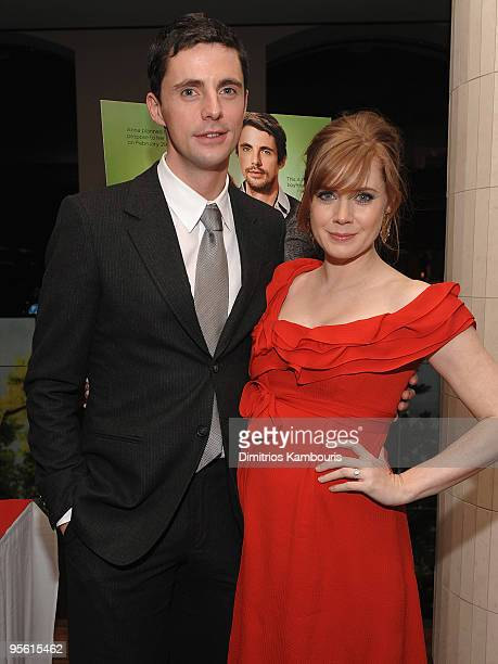 Actor Matthew Goode and actress Amy Adams attend the after party for the premiere of 'Leap Year' at the Rouge Tomate on January 6 2010 in New York...