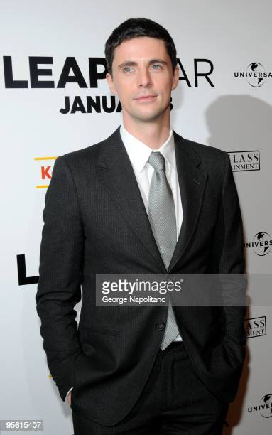 Actor Matthew Goode attends the premiere of 'Leap Year' at the Directors Guild Theatre on January 6 2010 in New York City