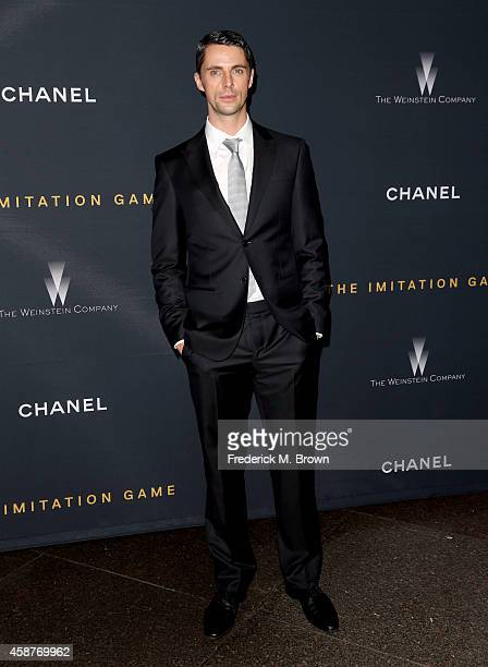 Actor Matthew Goode attends the screening Of The Weinstein Company's 'The Imitation Game' hosted by Chanel at DGA Theater on November 10 2014 in Los...