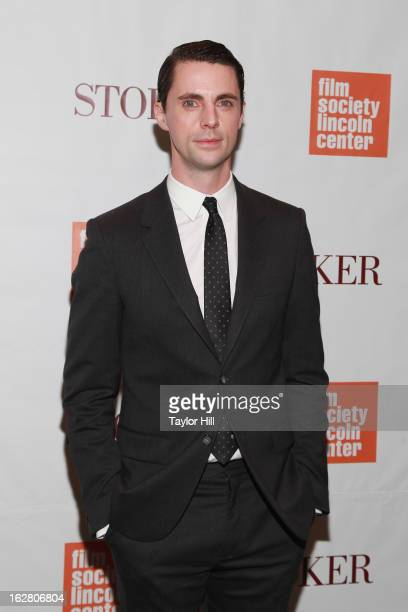 Actor Matthew Goode attends the 'Stoker' New York Screening at The Film Society of Lincoln Center Walter Reade Theatre on February 27 2013 in New...