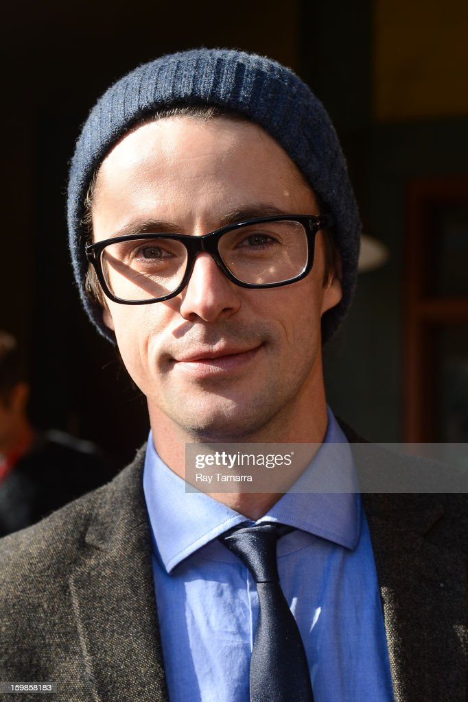 Actor Matthew Goode enters the Los Angeles Times portrait studio on January 21, 2013 in Park City, Utah.