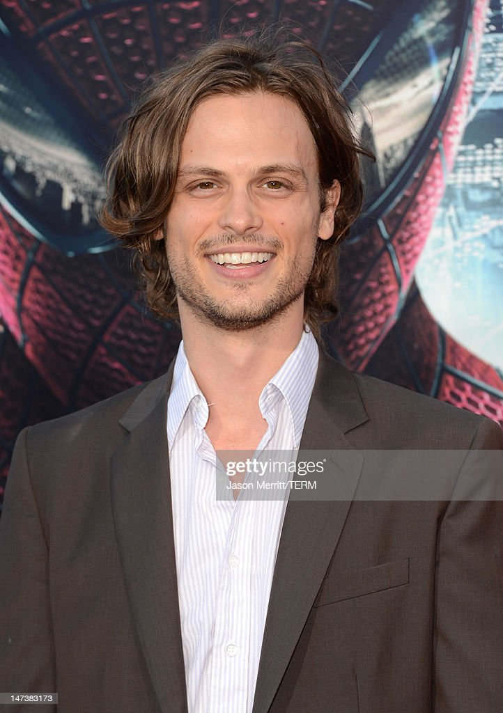Actor <a gi-track='captionPersonalityLinkClicked' href=/galleries/search?phrase=Matthew+Gray+Gubler&family=editorial&specificpeople=615759 ng-click='$event.stopPropagation()'>Matthew Gray Gubler</a> arrives at the premiere of Columbia Pictures' 'The Amazing Spider-Man' at the Regency Village Theatre on June 28, 2012 in Westwood, California.
