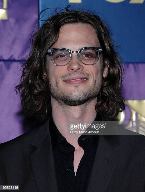 Actor Matthew Gray Gubler attends Fox's 2010 Golden Globes Awards Party at Craft on January 17 2010 in Century City California