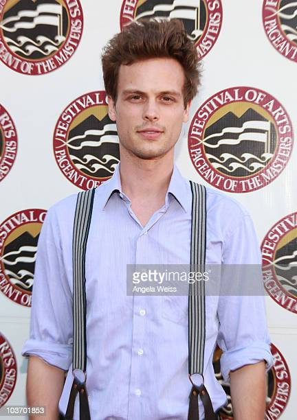 Actor Matthew Gray Gubler attends the 2010 Festival of Arts/Pageant of the Masters gala on August 28 2010 in Laguna Beach California