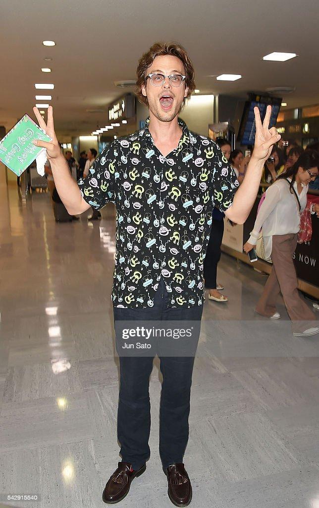 Matthew Gray Gubler Arrives In Tokyo
