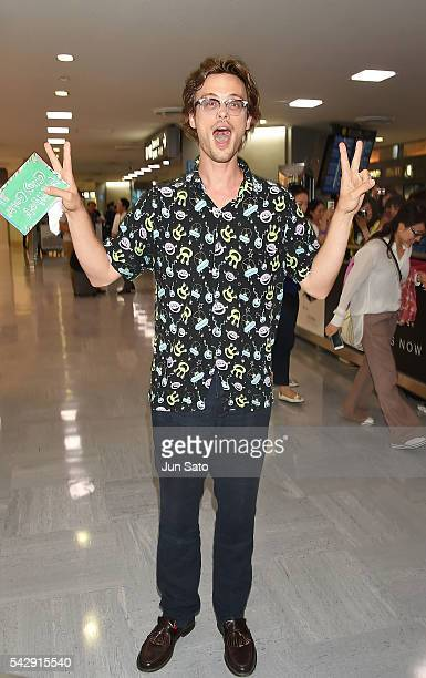 Actor Matthew Gray Gubler is seen upon arrival at Narita International Airport on June 25 2016 in Narita Japan