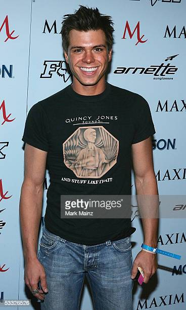Actor Matthew Lawrence attends the 'Maxim Magazine XGames Party' at the Cabana Club on August 4 2005 in Los Angeles California