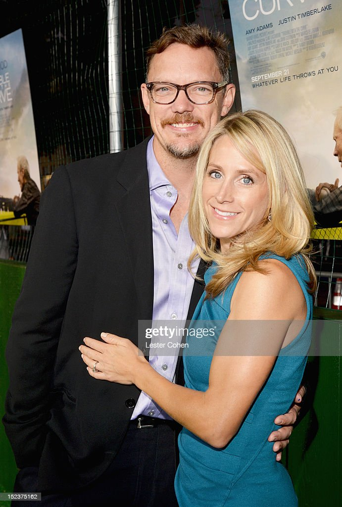 Actor Matthew Lillard and Heather Helm arrive at the 'Trouble With The Curve' Premiere at Mann's Village Theatre on September 19, 2012 in Westwood, California.
