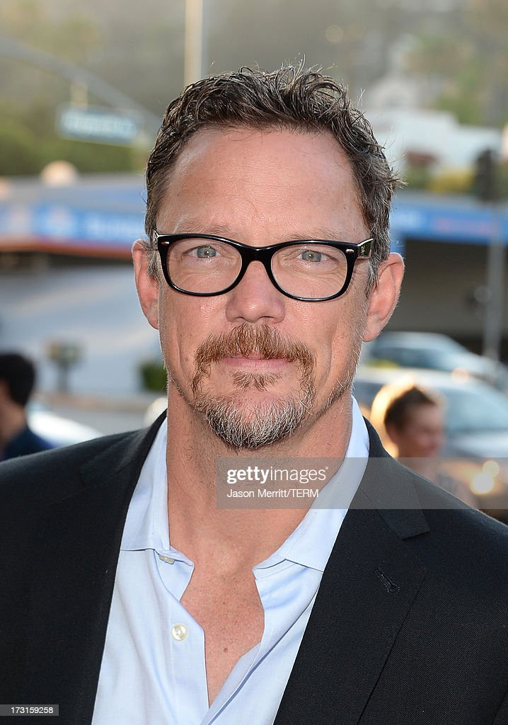 Actor <a gi-track='captionPersonalityLinkClicked' href=/galleries/search?phrase=Matthew+Lillard&family=editorial&specificpeople=206378 ng-click='$event.stopPropagation()'>Matthew Lillard</a> arrives at the series premiere of FX's 'The Bridge' at the DGA Theater on July 8, 2013 in Los Angeles, California.