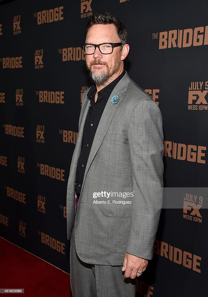 Actor <a gi-track='captionPersonalityLinkClicked' href=/galleries/search?phrase=Matthew+Lillard&family=editorial&specificpeople=206378 ng-click='$event.stopPropagation()'>Matthew Lillard</a> attends the premiere of FX's 'The Bridge' at Pacific Design Center on July 7, 2014 in West Hollywood, California.