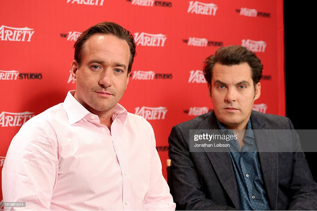 Actor Matthew Macfadyen (L) and director <a gi-track='captionPersonalityLinkClicked' href=/galleries/search?phrase=Joe+Wright+-+Director&family=editorial&specificpeople=771298 ng-click='$event.stopPropagation()'>Joe Wright</a> attend Variety Studio presented by Moroccanoil at Holt Renfrew on Day 2 at Holt Renfrew, Toronto during the 2012 Toronto International Film Festival on September 9, 2012 in Toronto, Canada.