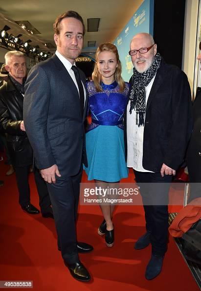 Actor Matthew Macfadyen Eliza Bennett and Ben Verbong attend 'Die Trapp Familie Ein Leben fuer die Musik' German Premiere at Gloria Palast on...