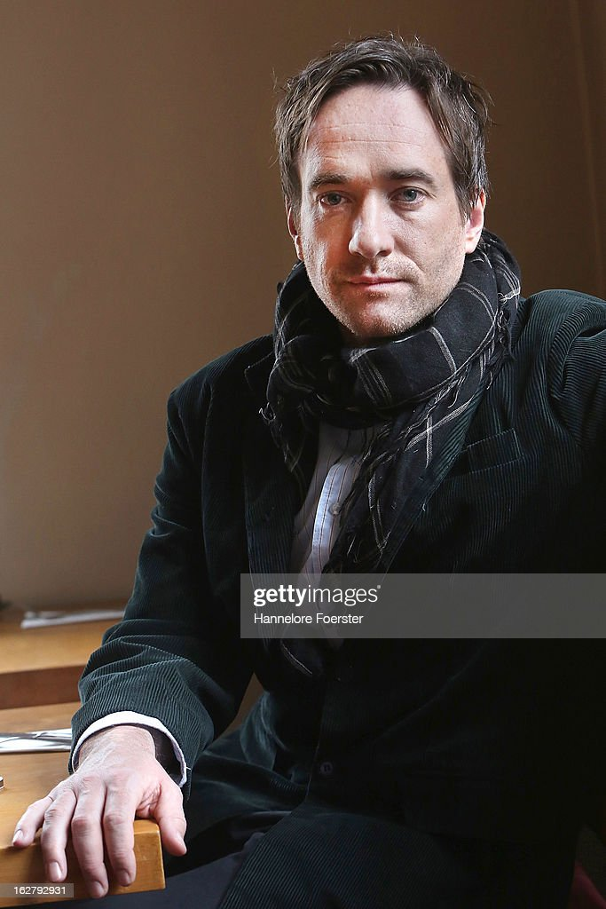 Actor Matthew Macfadyen poses on set during the filming of movie 'Epic' on February 27, 2013 in Frankfurt am Main, Germany.