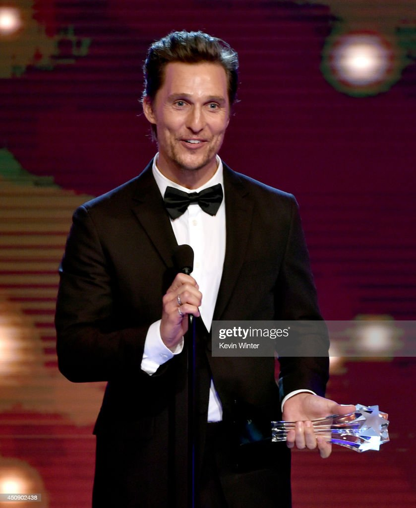 Actor <a gi-track='captionPersonalityLinkClicked' href=/galleries/search?phrase=Matthew+McConaughey&family=editorial&specificpeople=201663 ng-click='$event.stopPropagation()'>Matthew McConaughey</a> accepts the Best Actor in a Drama Series award for 'True Detective' onstage during the 4th Annual Critics' Choice Television Awards at The Beverly Hilton Hotel on June 19, 2014 in Beverly Hills, California.
