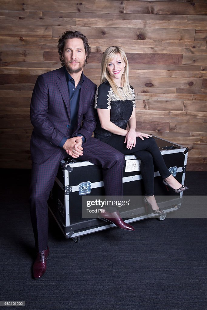 Actor Matthew McConaughey and actress Reese Witherspoon are photographed for USA Today on December 21, 2016 in New York City.
