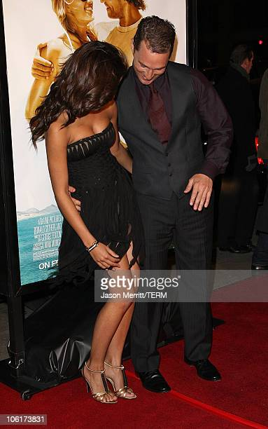 Actor Matthew McConaughey and fiancee Camila Alves arrive at 'Fools Gold Premiere' Los Angeles premiere at the Grauman's Chinese Theatre on January...