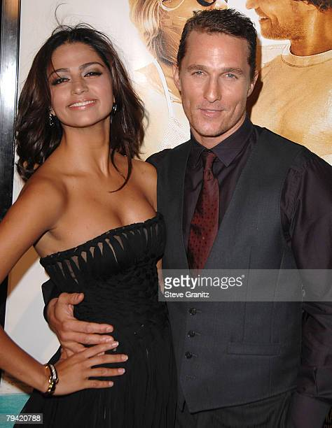 Actor Matthew McConaughey and Fiancee Camila Alves arrives at 'Fools Gold Premiere' Los Angeles premiere at the Grauman's Chinese Theatre on January...