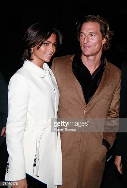 Actor Matthew McConaughey and girlfriend model Camila Alves sighting at the Gramercy Park Hotel for the Dolce and Gabbana party to celebrate the...