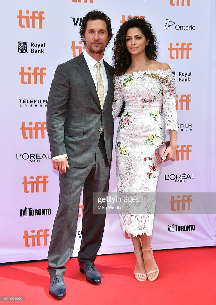 Actor Matthew McConaughey (L) and model Camila Alves attend the 'Sing' premiere during the 2016 Toronto International Film Festival at Princess of Wales Theatre on September 11, 2016 in Toronto, Canada.