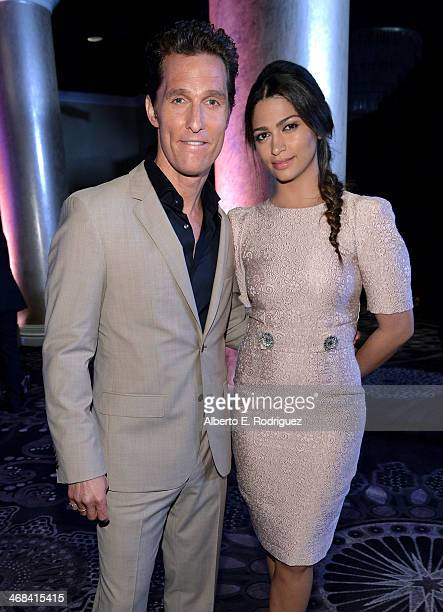 Actor Matthew McConaughey and model Camila Alves McConaughey attend the 86th Academy Awards nominee luncheon at The Beverly Hilton Hotel on February...