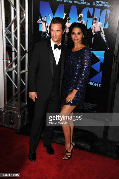 Actor Matthew McConaughey and model Camila McConaughey arrive at the closing night gala premiere of 'Magic Mike' at the 2012 Los Angeles Film Festiva...