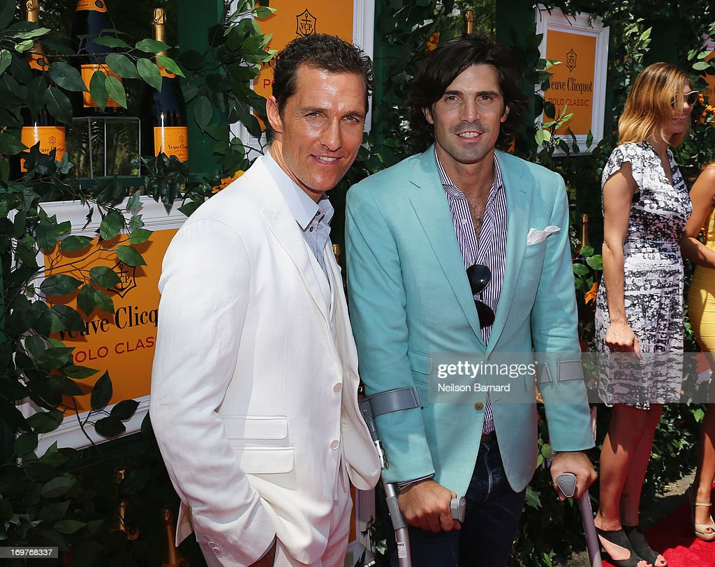 Actor Matthew McConaughey and Nacho Figueras attend the sixth annual Veuve Clicquot Polo Classic on June 1, 2013 in Jersey City.