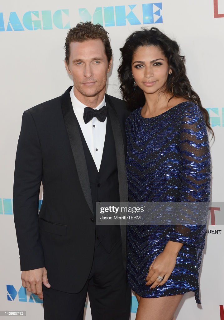 Actor <a gi-track='captionPersonalityLinkClicked' href=/galleries/search?phrase=Matthew+McConaughey&family=editorial&specificpeople=201663 ng-click='$event.stopPropagation()'>Matthew McConaughey</a> and wife Camila McConaughey arrive at the closing night gala premiere of 'Magic Mike' at the 2012 Los Angeles Film Festiva held at Regal Cinemas L.A. Live on June 24, 2012 in Los Angeles, California.