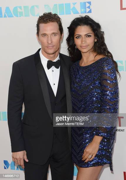 Actor Matthew McConaughey and wife Camila McConaughey arrive at the closing night gala premiere of 'Magic Mike' at the 2012 Los Angeles Film Festiva...