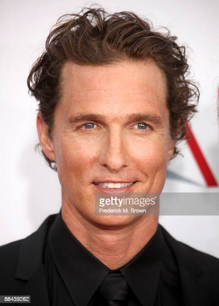 Actor Matthew McConaughey arrives at AFI Lifetime Achievement Award A Tribute to Michael Douglas held at Sony Pictures Studios on June 11 2009 in...