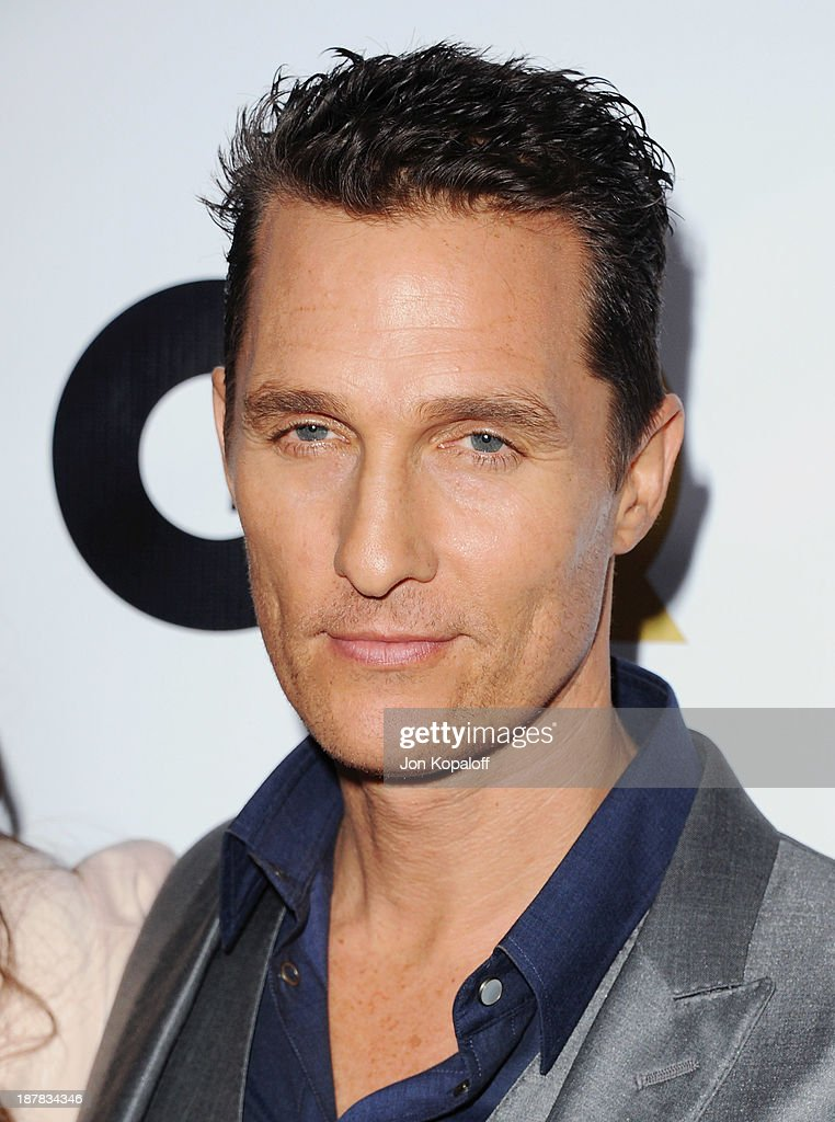 Actor <a gi-track='captionPersonalityLinkClicked' href=/galleries/search?phrase=Matthew+McConaughey&family=editorial&specificpeople=201663 ng-click='$event.stopPropagation()'>Matthew McConaughey</a> arrives at GQ Celebrates The 2013 'Men Of The Year' at The Wilshire Ebell Theatre on November 12, 2013 in Los Angeles, California.