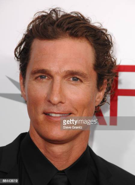 Actor Matthew McConaughey arrives at the 37th Annual AFI Lifetime Achievement Awards held at Sony Pictures Studios on June 11 2009 in Culver City...